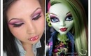 Monster High Makeup tutorial : Venus McFly Trap