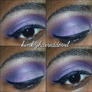 Look I created using bh cosmetics's cool shimmer palette and coastal scents 120 2nd edition palette.