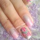 Rosa / Rose Nail Art