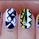 Edgy Geometric Nails
