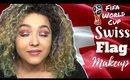 Switzerland Flag Inspired Makeup Tutorial -FIFA World Cup- (NoBlandMakeup)
