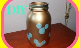 D.I.Y Mickey Mouse Mason Jar Piggy Bank