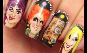 My Hocus Pocus Nail Art-not a tutorial !!