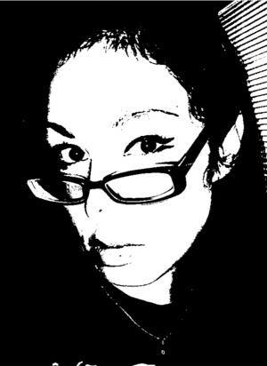 Enhanced my eyes with double lined eyeliner, great look for gals who wear glasses.