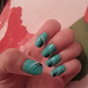 Mint/turquoise with a simple nail art design