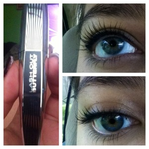 My natural lashes with two coats of this <3 [Fav. Right now]