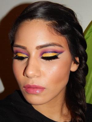 #trending #trendsetting #glitter #litcosmetics #sugarpill #fire #girlonfire #hungergames #braid #pinklips #pink #cutcrease  http://smokincolour.blogspot.com/2014/02/girl-on-fire-inspired.html  https://www.facebook.com/SmokinColour