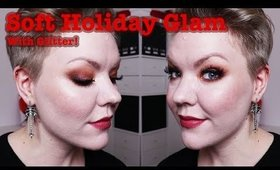Soft Glam & Glitter holiday party makeup