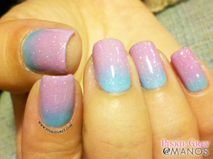 For colors used, visit: http://pinkiegrey.com/post/41064695596/cotton-candy-mmmm-doesnt-lunas-mani-just-make