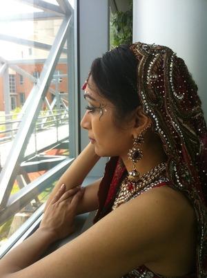 Bridal fashion show model