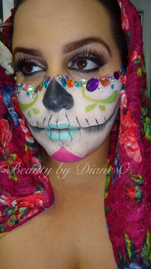 More pix of my colorful sugarskull