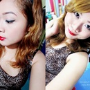 Classic Cat-Eyes and Red Lips :)
