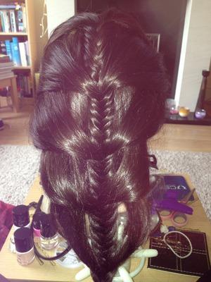 Add in fishtail braid:)x