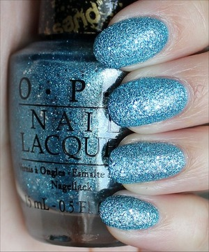 Liquid Sand from the OPI Bond Girls Collection due out in May! See more swatches & my review here: http://www.swatchandlearn.com/opi-tiffany-case-swatches-review