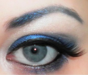 A bright blue look based on the gem stone sapphire