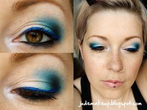 http://judemakeup.blogspot.ca/2013/05/look-degrade-tout-en-bleu.html