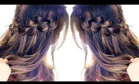 Pull-Through WATERFALL BRAID Hairstyle ★ Easy Hairstyles   Headband Braids