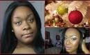 Cranberry Glitter Holiday Makeup