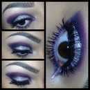 Purple glitter eyes!