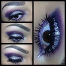 Purple glitter eyes!