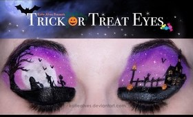 Trick or Treat Eyes Scene Tutorial