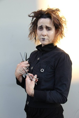 Edward Scissorhands inspired hair and makeup