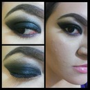 Black and violet smokey eye