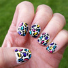Funky Crazy Leopard Nails