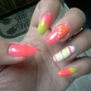 Newest Nails. Strawberry Orange Lemonade