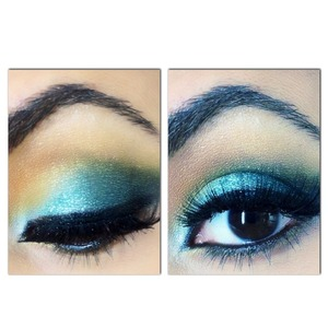 Taken from my YouTube Prom Make-up Series - Mermaid.