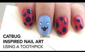 Catbug nail art || Using a toothpick