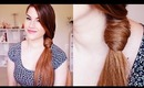 Easy Twisted Side Ponytail