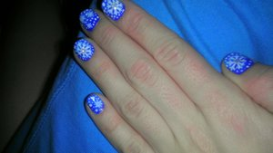SNOWFLAKES!!!  One of my most favorite manis iv ever done!