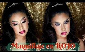Maquillaje en tonos ROJOS y VINO / RED & BURGUNDY  makeup tutorial| auroramakeup