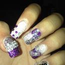 Blinged up nail
