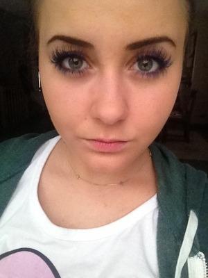 Violett eyelashes.  But my own eyelashes!;)