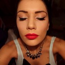 Cat Eyes And Red Lips Make Up