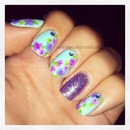 Cool Toned Floral With Glitter Accent