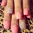 Sparkle Pink Flirty Nail Art