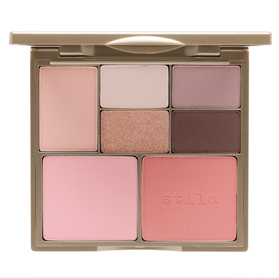 Stila Perfect Me, Perfect Hue Eye & Cheek Palette Fair/Light product smear.