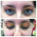 rainbow look for pale white skin