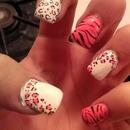 Pink White & Black Cheetah & Zebra
