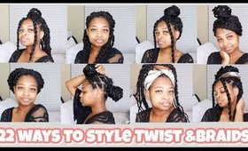 22 CUTE WAYS TO STYE HAVANA TWIST & BOX BRAIDS 2020