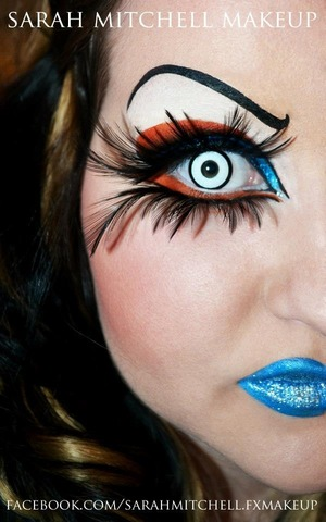 come like me on fb! :) facebook.com/sarahmitchell.fxmakeup  liner & orange is Wolfe paint