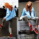 Boyfriend Style Blue Denim Coat