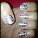 Disco Inspired Metallic Dots