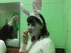 missbunny : in my school's production of Narnia, i played the a warrior bunny rabbit who gets to fight the witch :D WOOP first play ever. and now i am in seussical the musical, pictures sooon.