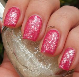 Sally Hansen Diamond Streght, 330 Fuchsia Bling Bling + 150 Glass Slipper
