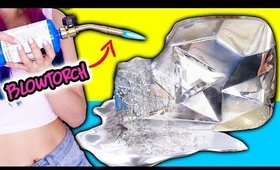 MELTING MY DIAMOND PLAY BUTTON! How To Make DIY Gallium Button! Liquid Metal Melts In Your Hands!