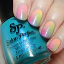 Neon POP Rainbow Ombre Nails and Tutorial